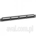 Patch panel 24-portowy PP19-245/DB UTP k.5e #08304