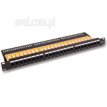 Patch panel kat.5e UTP 19'' z prowadnicą 37582SW.1